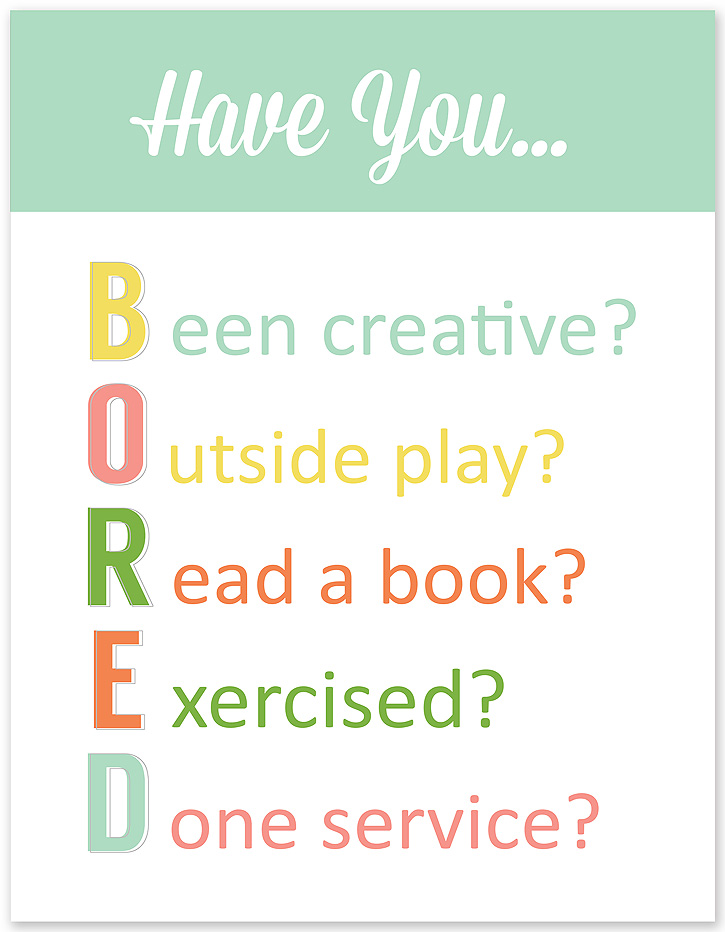 Win the Summer boredom battle with the help of this printable BORED Checklist from Simple as That.
