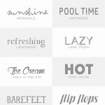 14 Fun Fonts for Summer