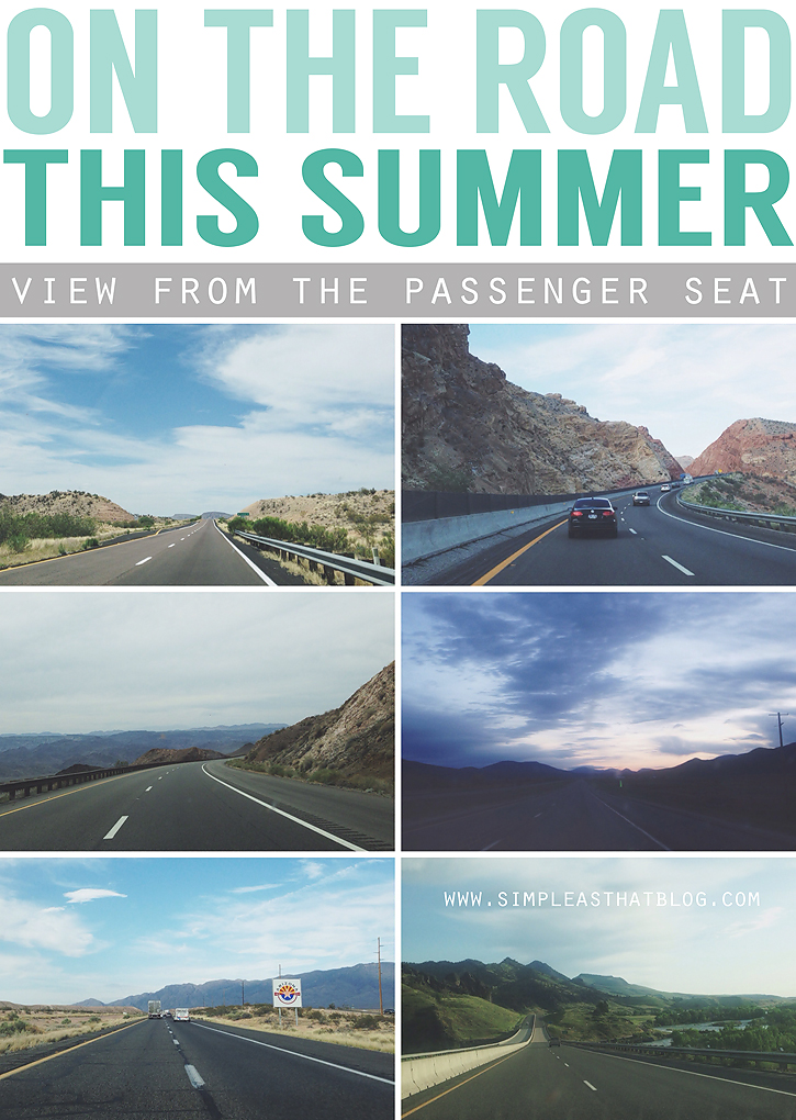 Chronicle your next Road Trip by taking  Photos of your view from the passenger seat and compile them into a collage