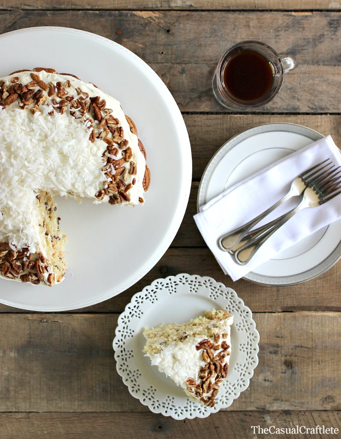... delicious Italian Cream Cake Recipe with three layers of fluffy cake