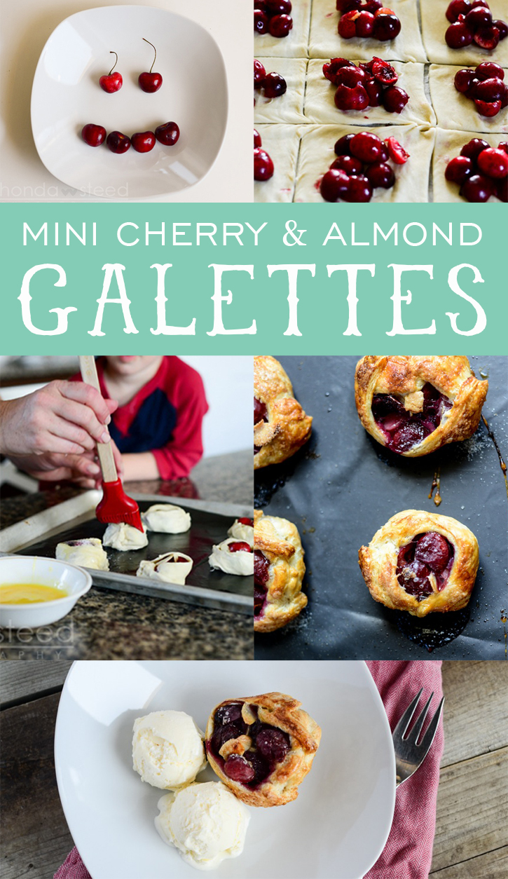 Mini Cherry and Almond Galettes