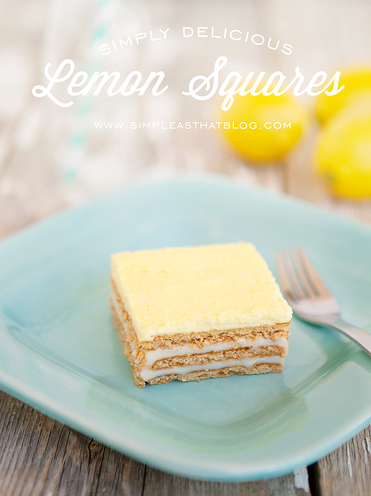 No-Bake Lemon Squares