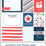 Fourth of July Journaling + Filler Cards
