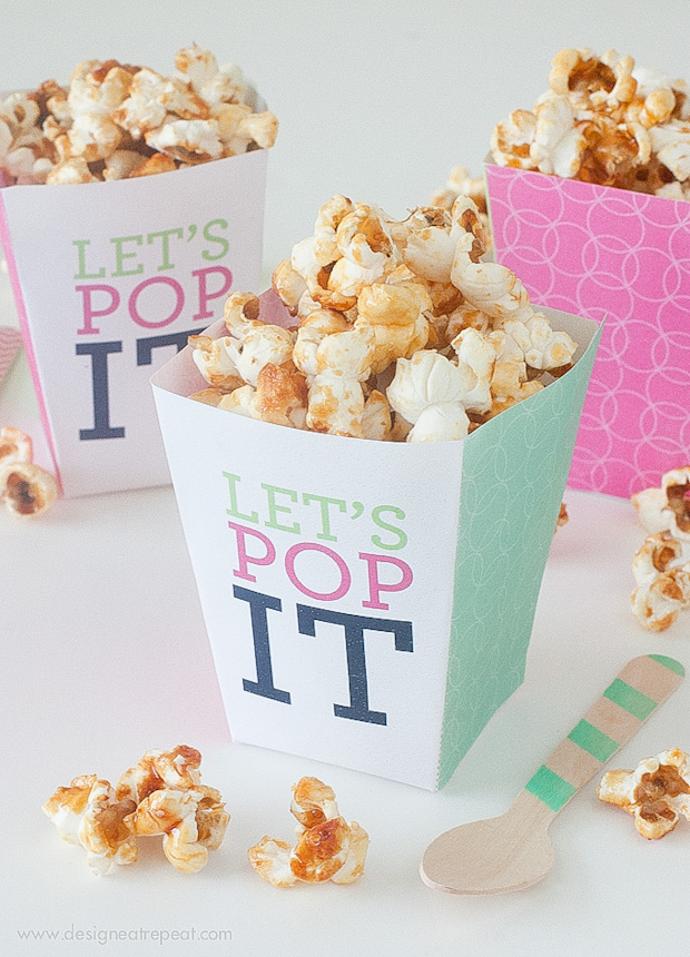 It is an image of Nifty Printable Popcorn Box