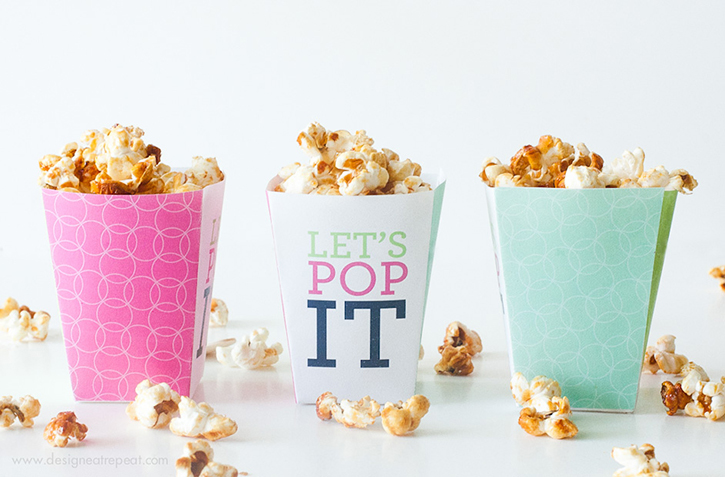"Printable ""Let's Pop it!"" Popcorn Boxes"