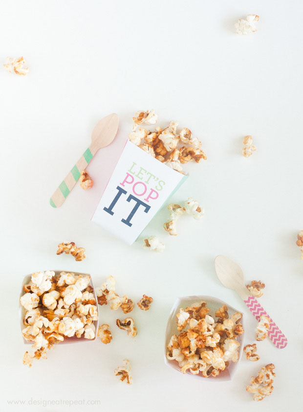 picture about Printable Popcorn Boxes known as Printable \
