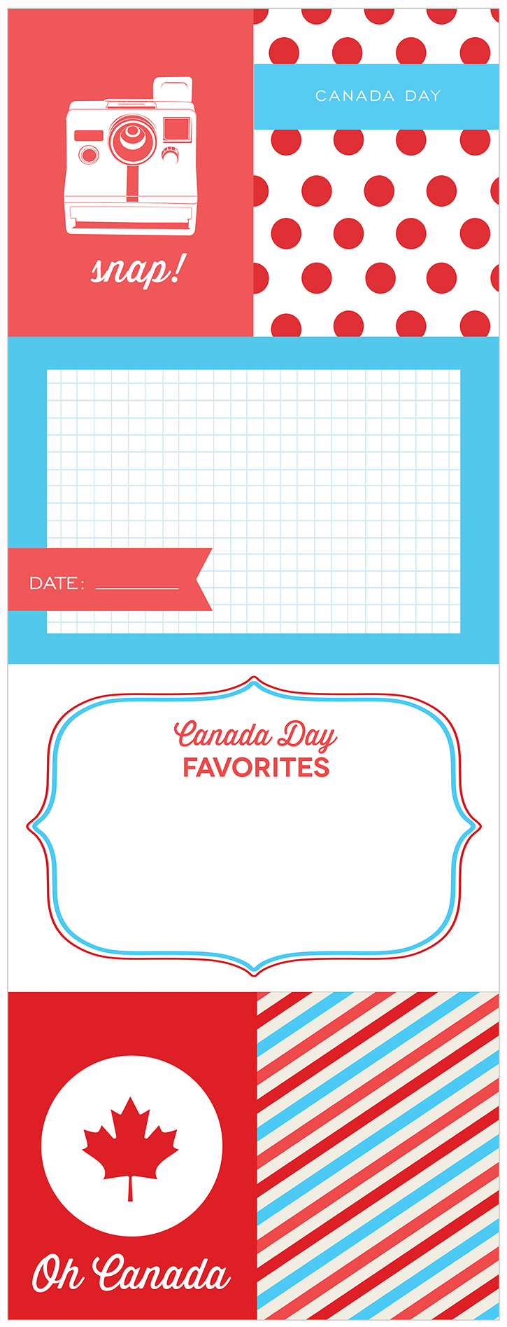 Canada Day Journaling and Filler Cards