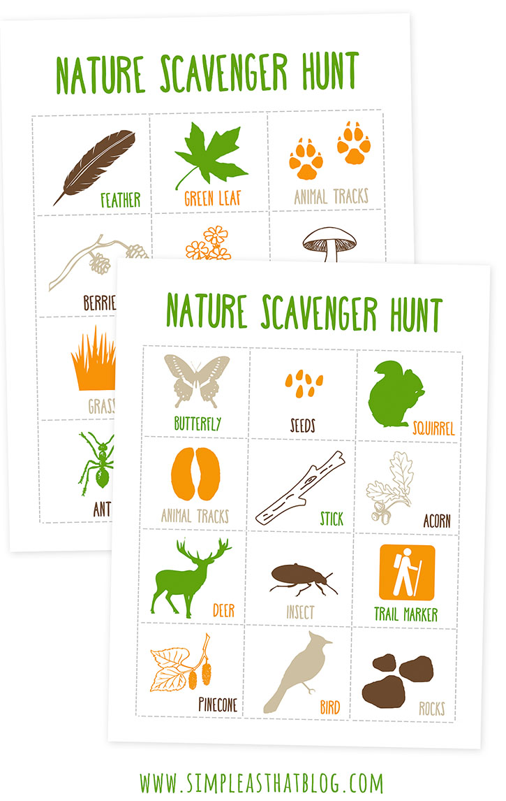 Outdoor Scavenger Hunt Ideas >> Printable Nature Scavenger Hunt