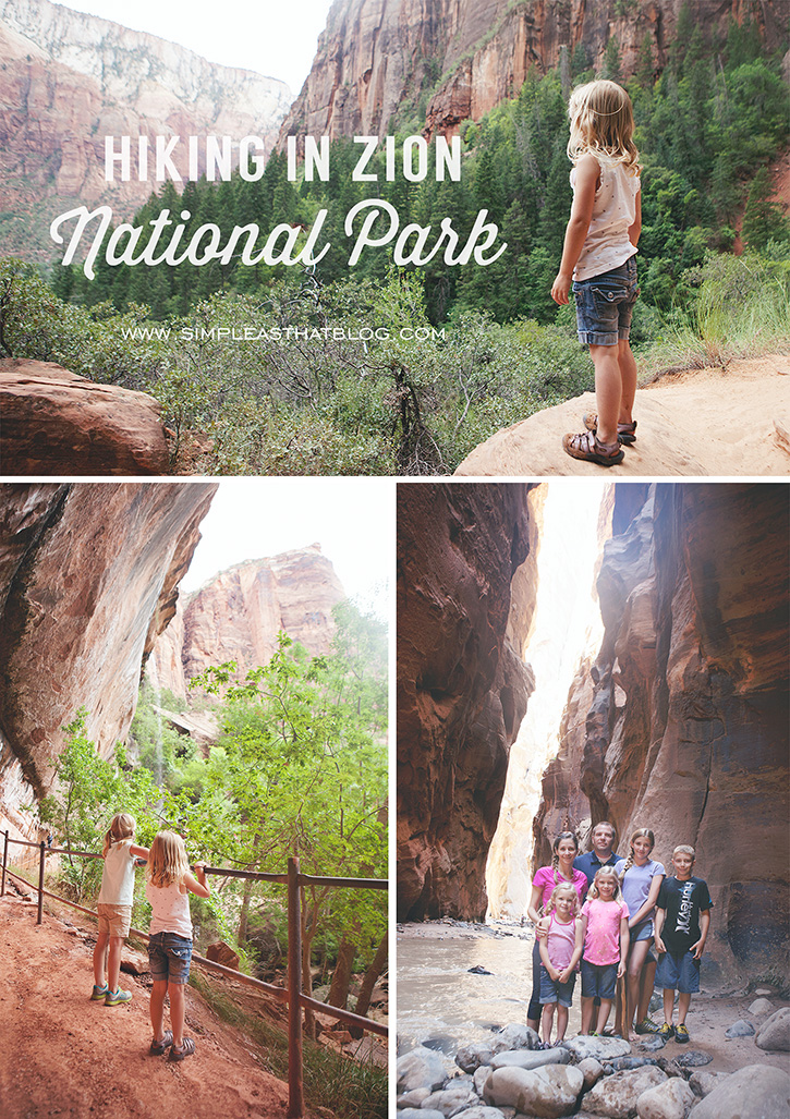 Family Hiking in Zion National Park