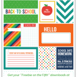 Back to School Journaling + Filler Cards