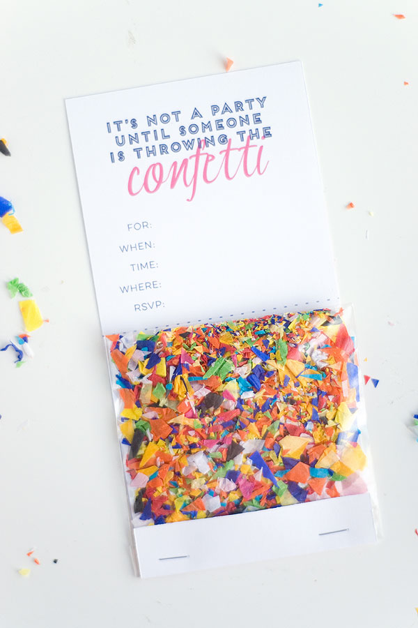 DIY Confetti Invitation with free printable