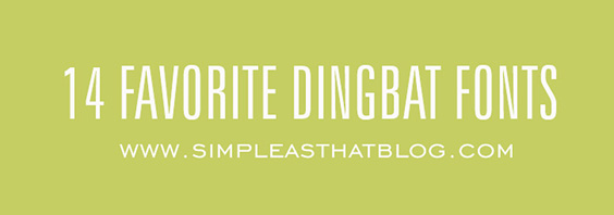 14 Favorite Dingbat Fonts