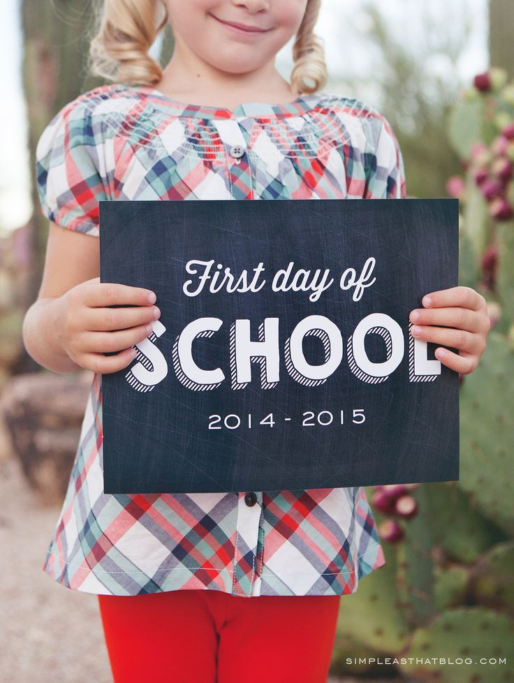Back to School Photo Tips and Free Printable Photo Signs
