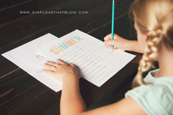 With Summer comes so many fun memories! Use these free printables to help your child record those memorable Summer moments to remember for years to come!