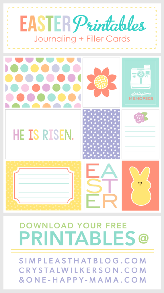 Easter Themed Journaling and Filler Cards