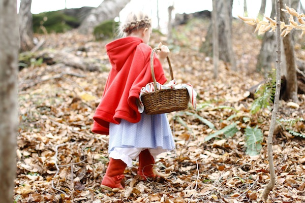 Thrifted Little Red Riding Hood Costume