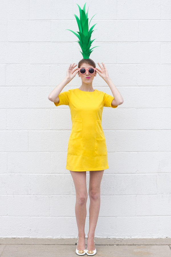 25 simple do it yourself halloween costume ideas pineapple studio diy easy pineapple costume solutioingenieria