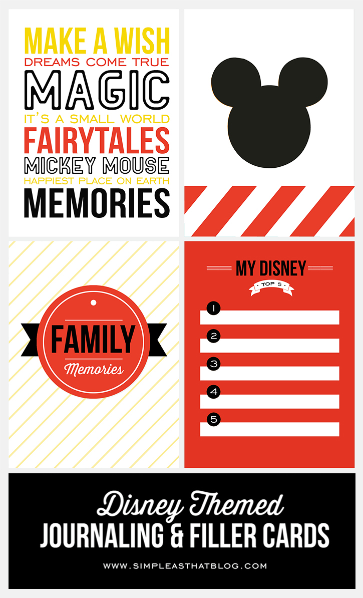 Themed Journaling and Filler Cards | Free Printables