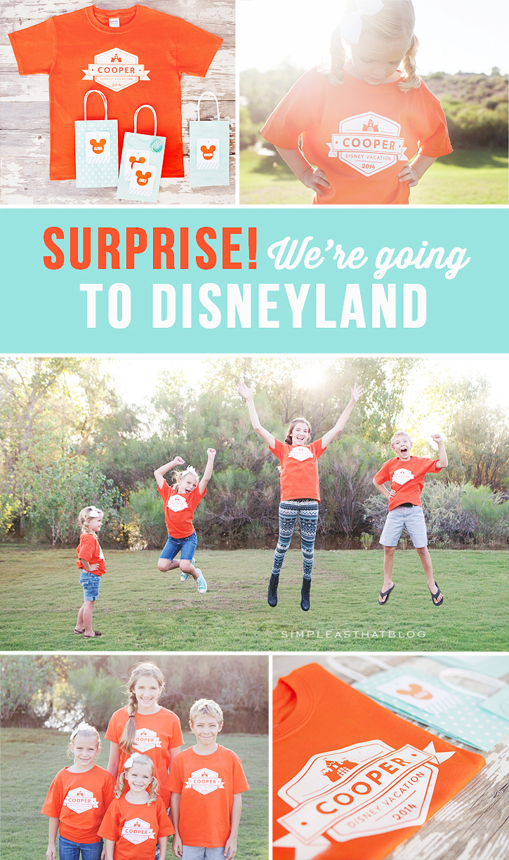 Surprise! We're going to Disneyland! How we shared the news with our Kids!