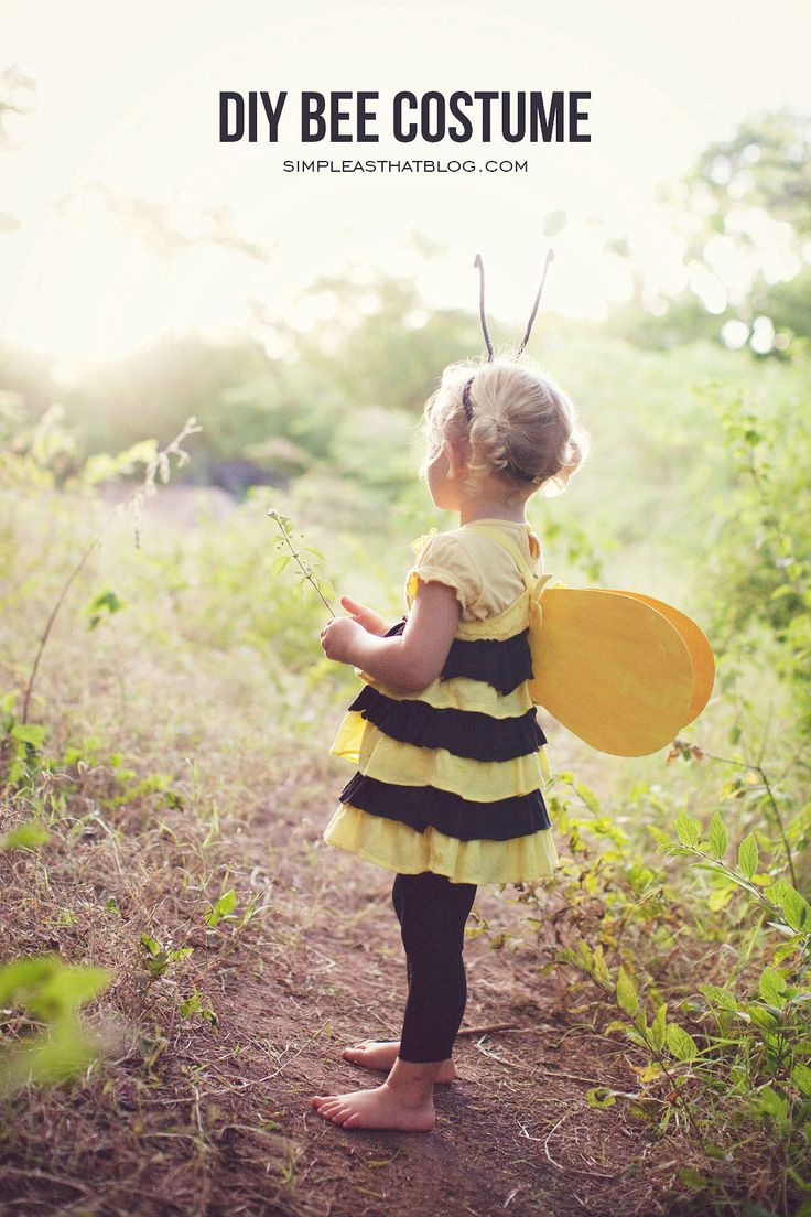 DIY Upcycled Bee Costume