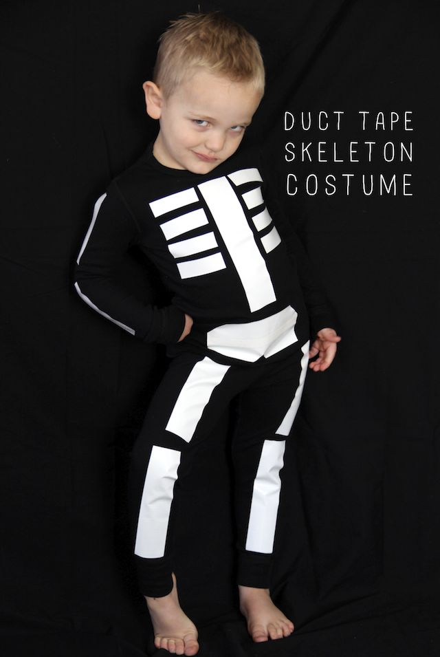 25 simple do it yourself halloween costume ideas duct tape skeleton costume fox the paper mama diy solutioingenieria Images