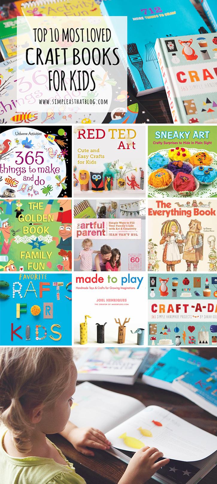 Top Ten Craft Books for Kids