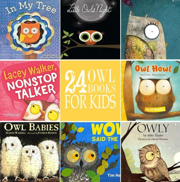 24 Cute and Cuddly Owl Books