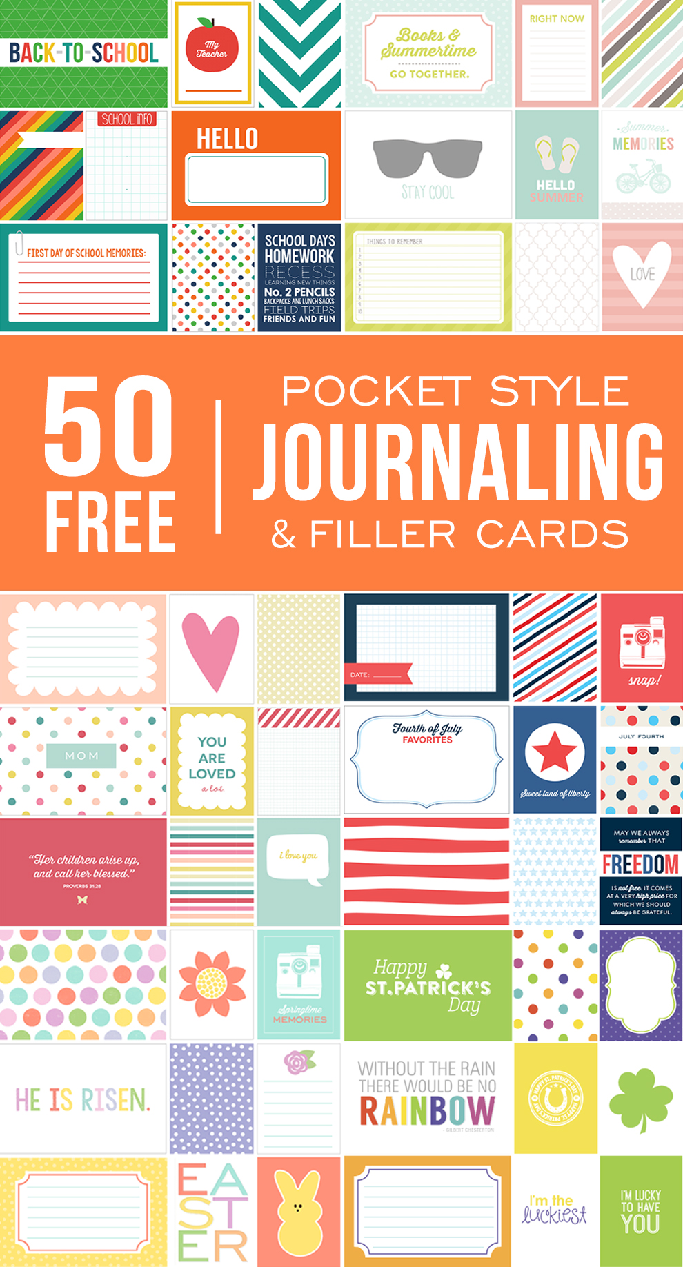 graphic about Free Printable Journal Cards known as Greatest Roundup of No cost Journaling + Filler Card Printables