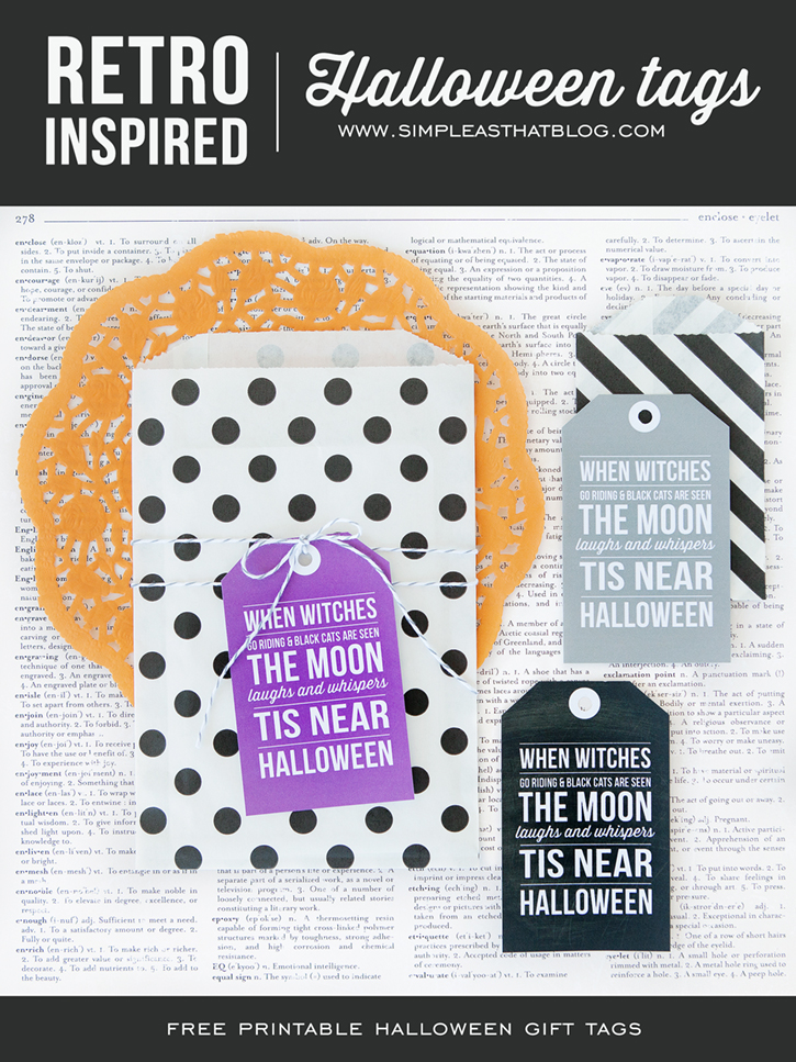 Retro inspired printable halloween gift tags negle Image collections