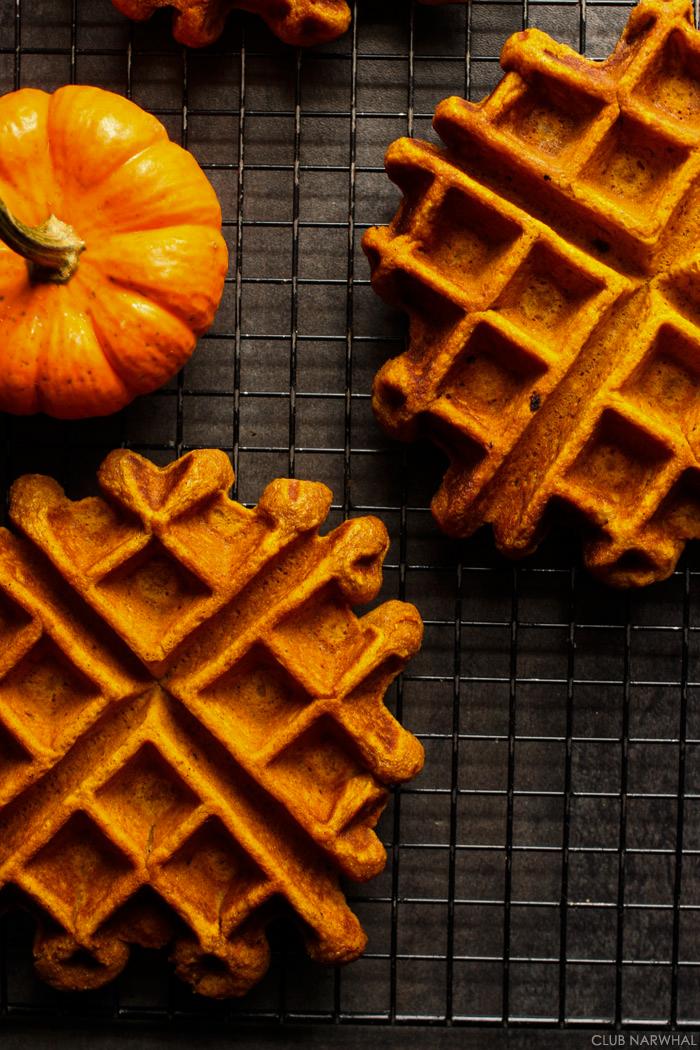 Pumpkin Belgian Waffles