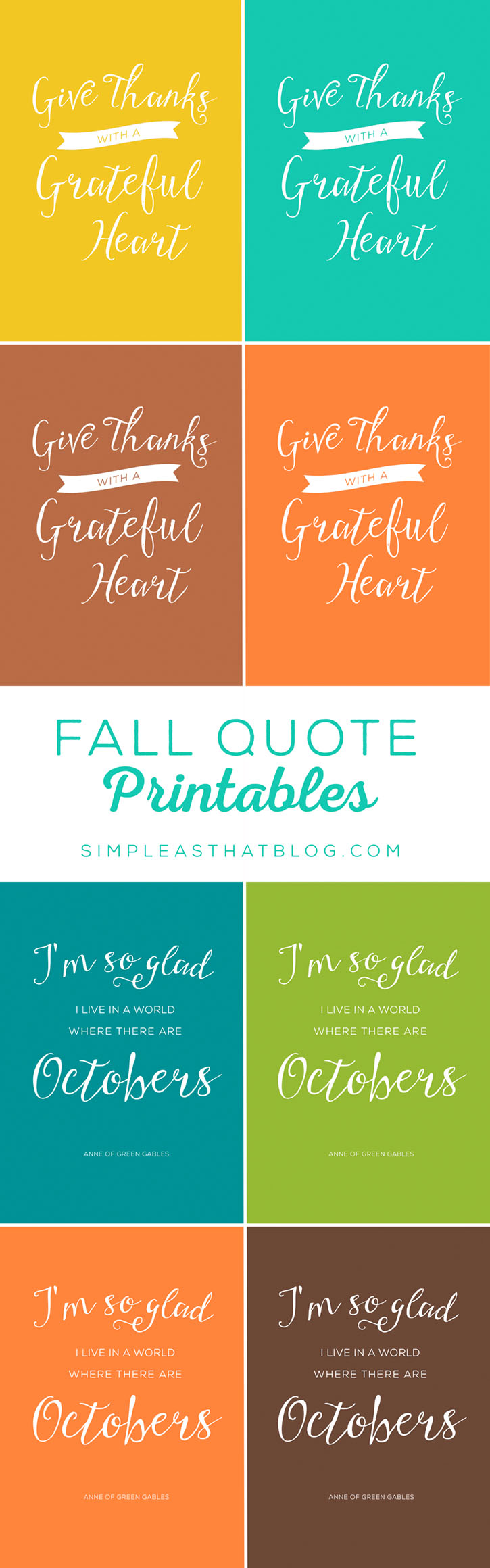 Free Printable Quotes for Fall