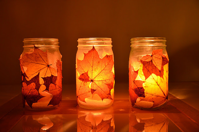 Fall Leaf Lanterns