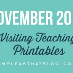 November 2014 Visiting Teaching Message