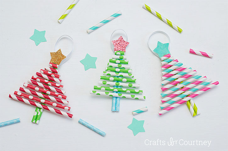 kids decorative paper straw christmas tree ornaments. Black Bedroom Furniture Sets. Home Design Ideas