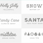 14 Festive Fonts for the Holidays