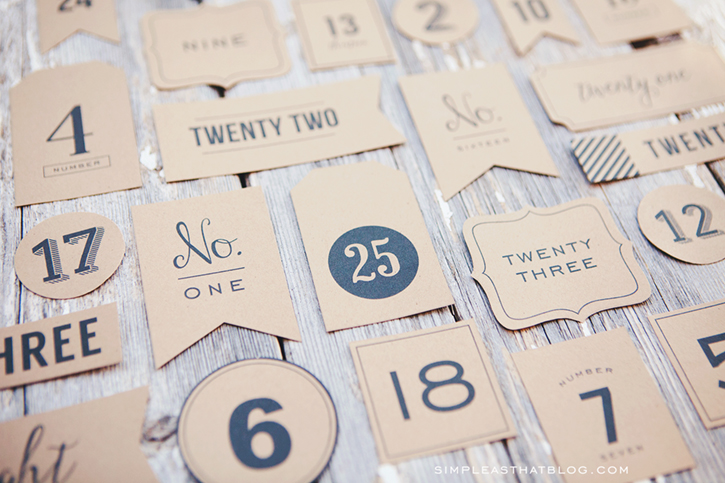 photograph relating to Advent Calendar Numbers Printable referred to as Introduction Calendar Xmas Countdown Tags