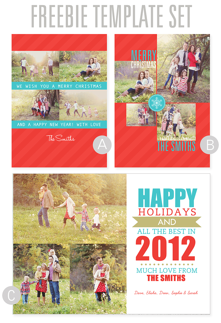 Diy photo cards using digital templates for Free christmas card templates for photographers