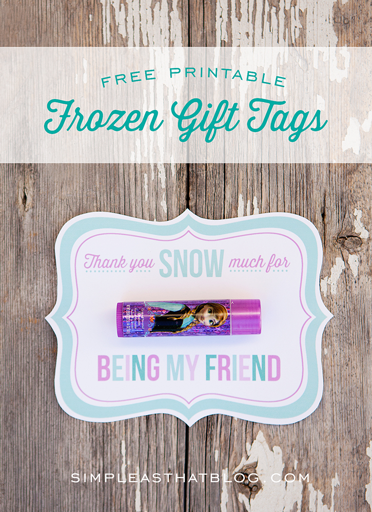 Free Printable Disney Frozen Gift Tags plus simple and inexpensive ...
