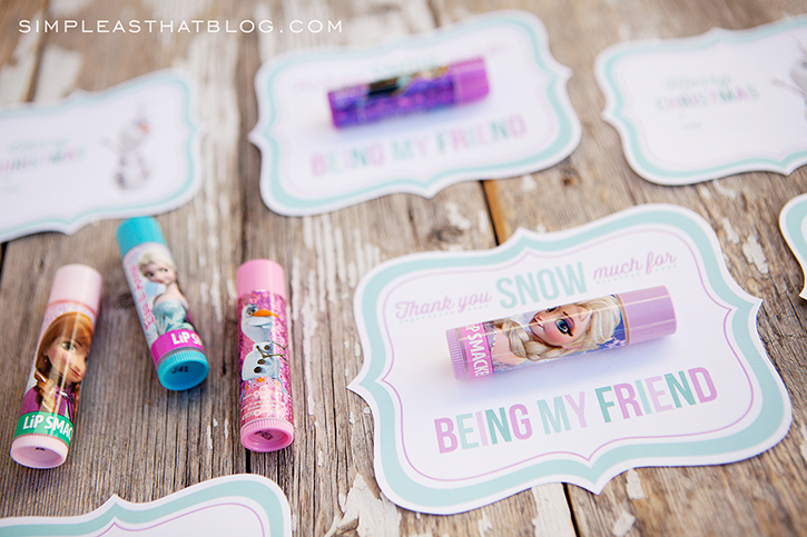 Free Printable Disney Frozen Gift Tags plus simple and inexpensive friend gift ideas for kids.
