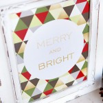 Merry & Bright Christmas Printables for Framing