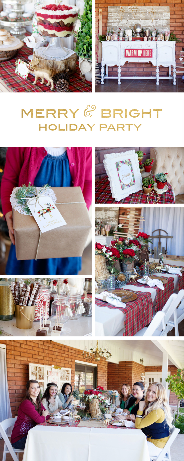 Merry and Bright Holiday Party | Printables, DIY projects, Recipes and more!