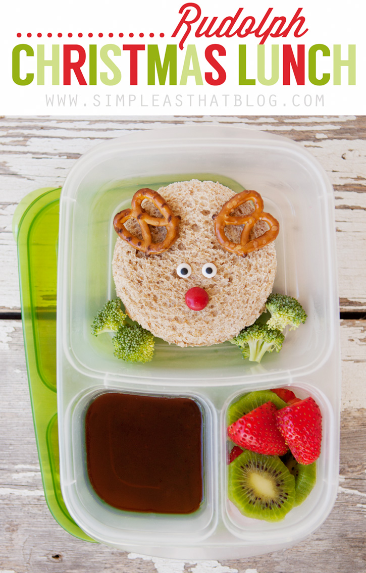 Easy Rudolph Christmas Lunch for Kids