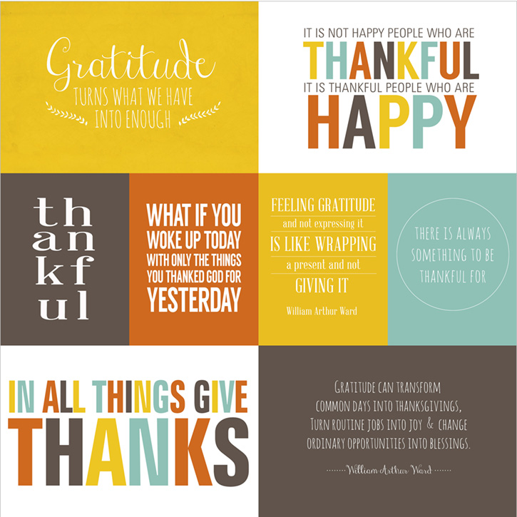Give Thanks Printable Quote Collection