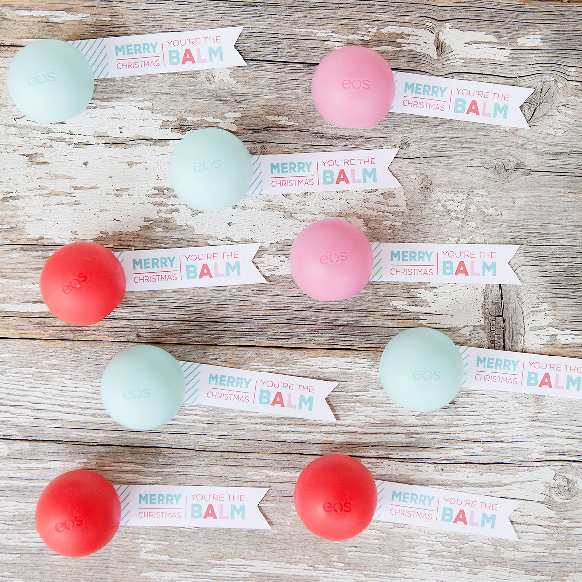 photograph regarding You're the Balm Free Printable named EOS Lip Balm \
