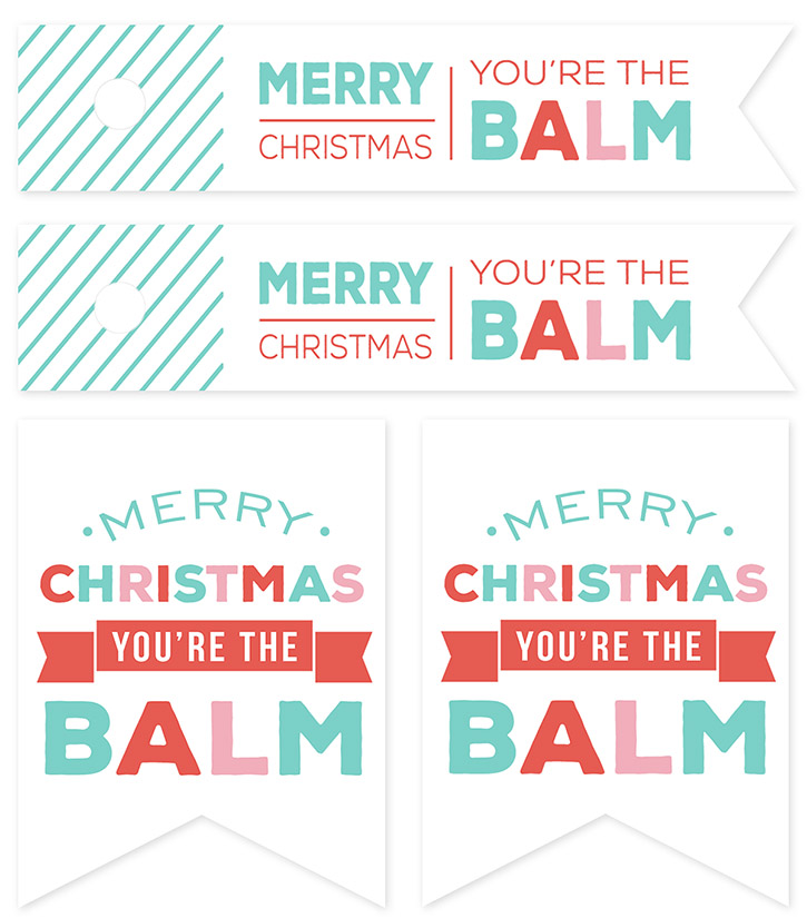 "EOS Lip Balm ""Candies"" and FREE Printable Gift Tags. Simple and inexpensive Christmas gift idea for friends, tweens, teachers."