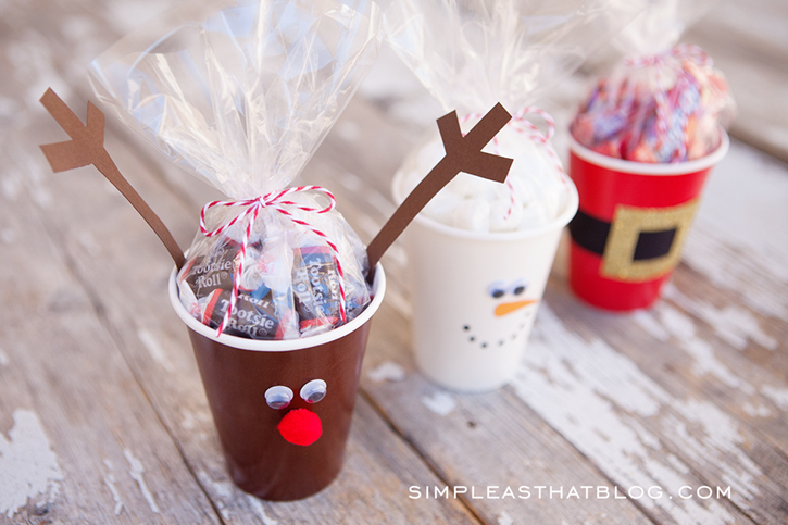 Simple Christmas Treat Cups   Quick And Inexpensive Fun For The Kids This  Holiday Season!