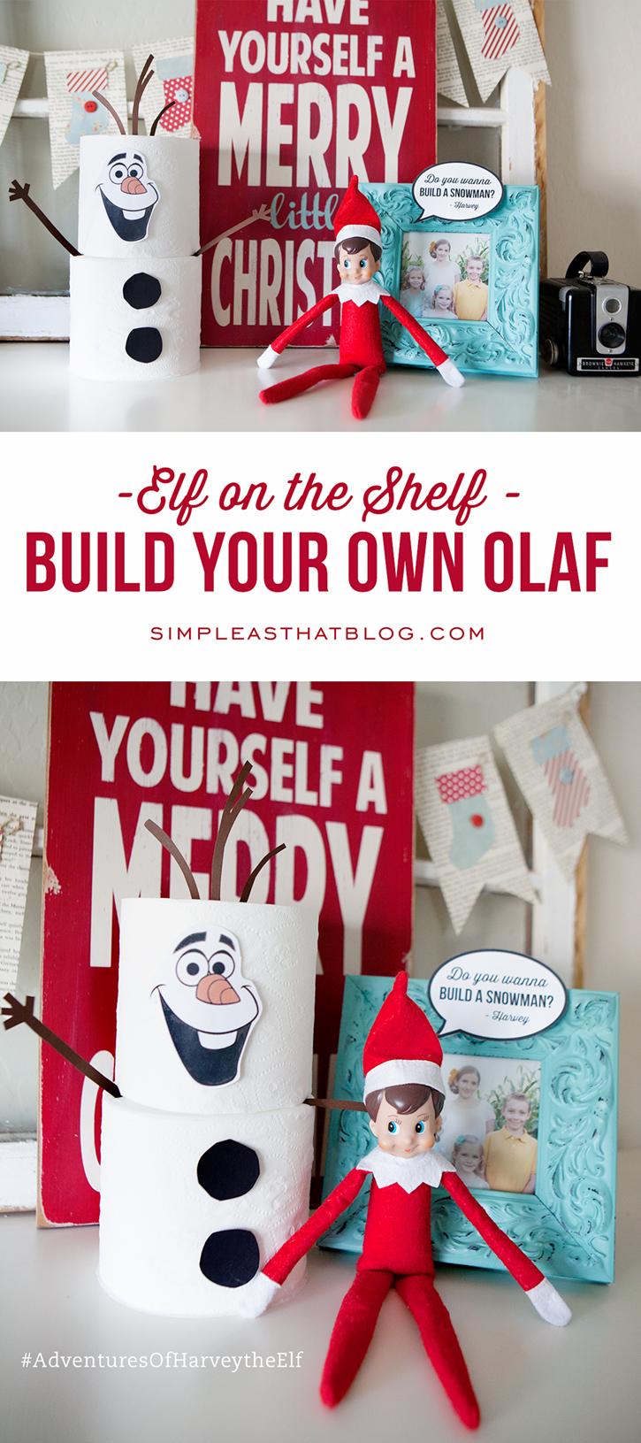Free Elf on the Shelf Olaf Printable