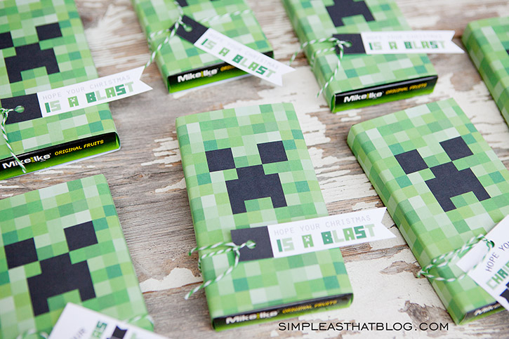 image regarding Printable Minecraft named Printable Minecraft Present Tags and Xmas Reward Thought