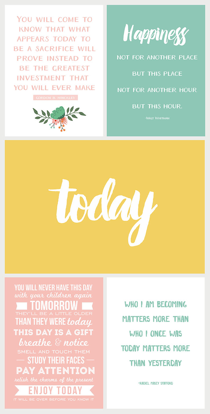Focus on TODAY - a collection of inspiring printable quotes available for free download at www.simpleasthatb...