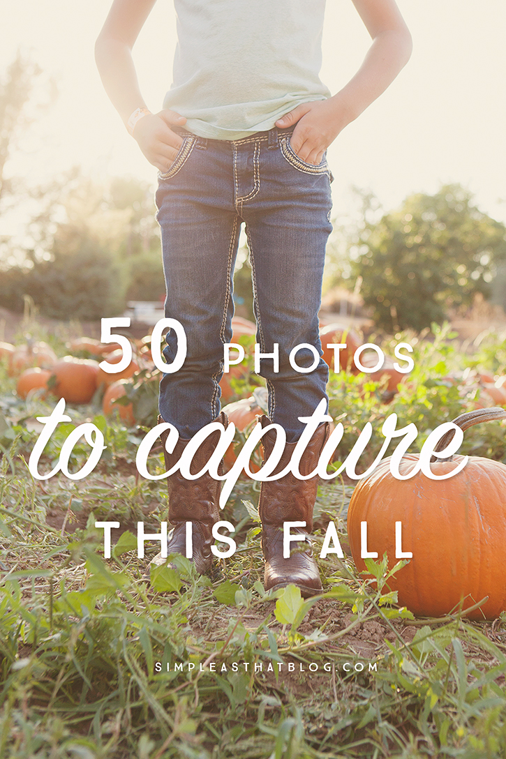 50 Photos to Take this Fall